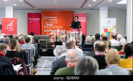 Alex Norris, Labour M.P. for Nottingham North speaking at the East Midlands Labour Party conference 2019. - Stock Image