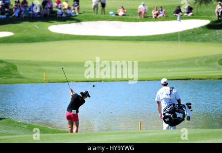 Rancho Mirage, California, USA. 2nd Apr, 2017. Lydia Ko on the 6th hole during the final round of the ANA Inspiration - Stock Image