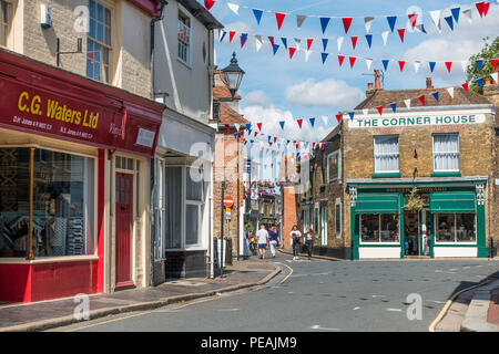 King Street,Town Centre,Sandwich,Kent,England,UK - Stock Image