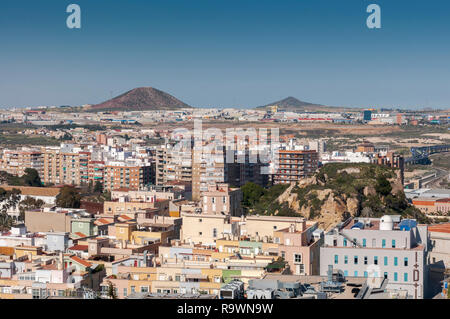 Views of the city of Cartagena, in the province of Murcia, Spain. - Stock Image