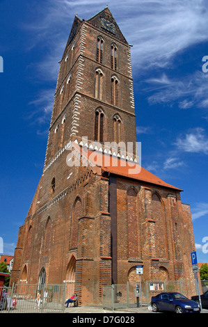 Germany, Mecklenburg-West Pomerania, Wismar, church, Saint Marien - Stock Image