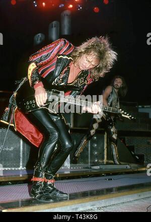 JUDAS PRIEST English heavy metal rock group in 1984. Photo: Jeffrey Mayer - Stock Image
