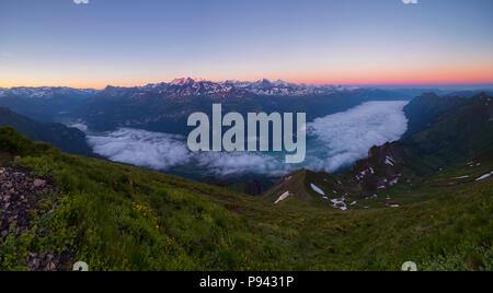 Sunrise at Brienzer Rothorn - Stock Image