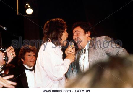 Rock And Roll Hall Of Fame With Mick Jagger And Bruce Springsteen Performing. Credit: 381154_Globe Photos/MediaPunch - Stock Image