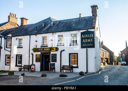 A view of The Airlie Arms hotel and bar in Kirriemuir, Scotland. - Stock Image