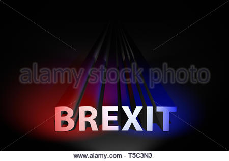 Never ending BREXIT political concept - Stock Image