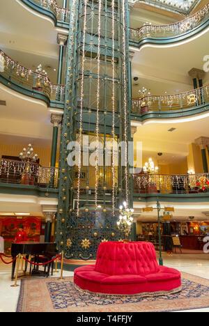 Gran hotel Ciudad de Mexico, Mexico city, mexico - Stock Image