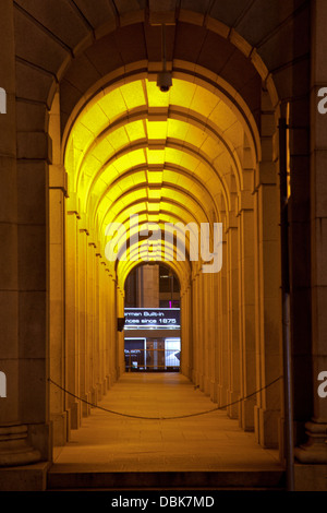 Hong Kong Central district buildings dusk hsbc legco building - Stock Image