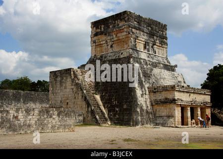 Entrance to the Great Ballcourt, Juego de Pelota, Chichen Itza, Yucatan Peninsular, Mexico - Stock Image