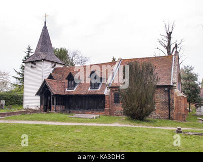 Church of St Andrew, Greensted-juxta-Ongar, Essex - Stock Image