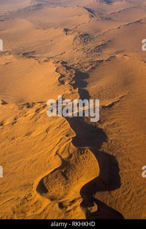 Aerial view of the Namib desert, Namibia - Stock Image