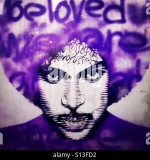 Prince street art - Stock Image