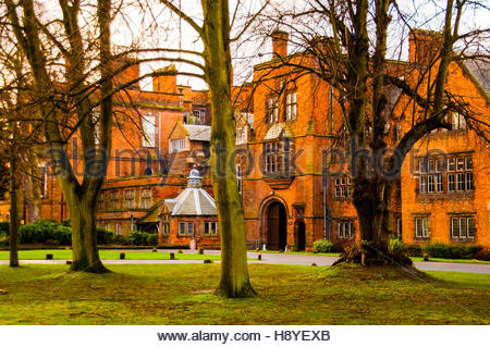 Stock photo of Croxteth Hall in Knowsley, Merseyside, The stately home owned by Liverpool City Council was used - Stock Image