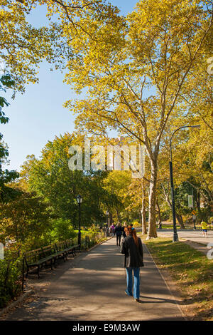 Central Park Fall New York City - Stock Image
