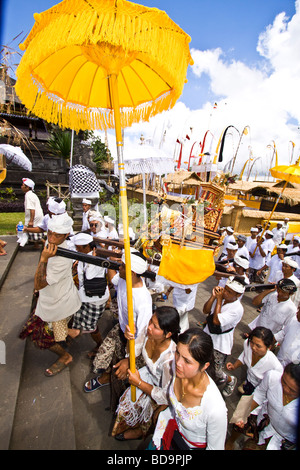 Panca Wali Krama holy Celebration at Besakih temple every ten years Bali Indonesia - Stock Image