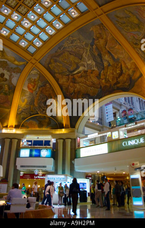 Interior of The Galerías Pacifico shopping mall in Buenos Aires - Stock Image
