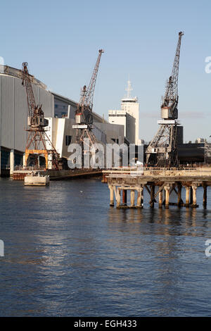 Historic old dockside cranes in Fremantle, Western Australia. - Stock Image