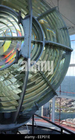The lantern of the Bengskär lighthouse - Stock Image