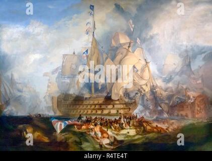The Battle of Trafalgar, 21 October 1805,  JMW Turner, 1822, - Stock Image