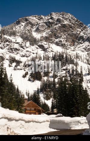 Ski season is open in the mountains - Stock Image