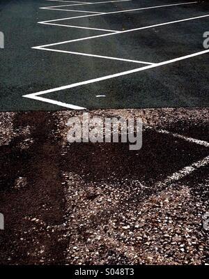 Road Markings in Car Park - Stock Image