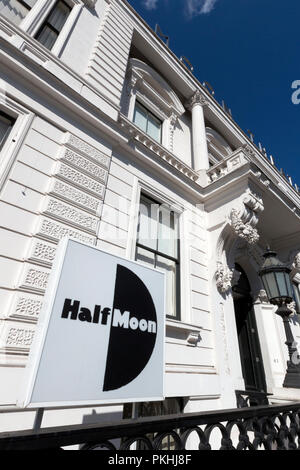 Exterior of the Half Moon Theatre (formerly the Limehouse Board of Works building), White Horse Road, London, UK. - Stock Image