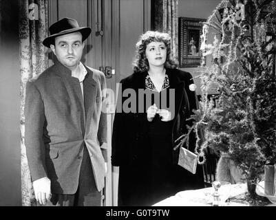Bernard Blier and Suzy Delair / Quai des Orfèvres / 1947 directed by Henri-Georges Clouzot (Majestic-Film) - Stock Image
