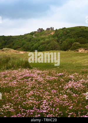 Pennard Castle, Wales, UK - Stock Image