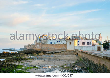 Morocco, Marrakesh-Safi (Marrakesh-Tensift-El Haouz) region, Essaouira. Medina (old town), protected by 18th-century - Stock Image