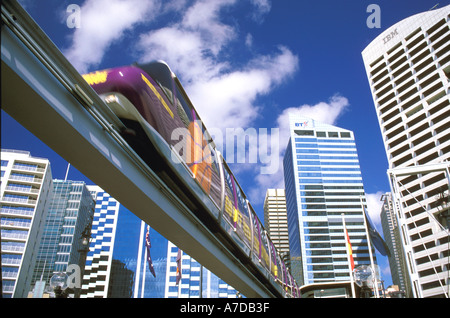 Australia New South Wales Sydney Darling Harbour Monorail CBD - Stock Image
