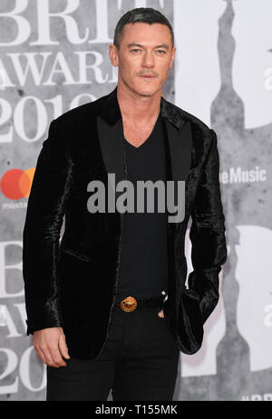 The Brit Awards 2019 held at the O2 - Arrivals  Featuring: Luke Evans Where: London, United Kingdom When: 20 Feb 2019 Credit: WENN.com - Stock Image