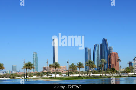 The beautiful Etihad Towers in Abu Dhabi. - Stock Image