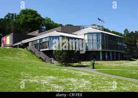 Pitlochry Festival Theatre on the banks of the River Tummel, Perthshire - Stock Image