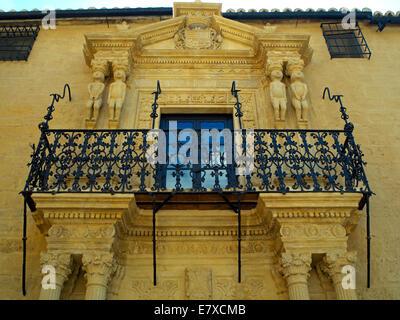 A palace facade in Ronda - Stock Image