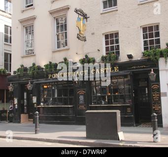 The Pontefract Castle Pub Wigmore Street London - Stock Image