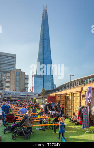 Vinegar Yard, Street food and Flea market. St Thomas Street, London, UK. - Stock Image