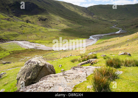 Looking towards Stonethwaite fell, Langstrath Beck in the Lake District - Stock Image