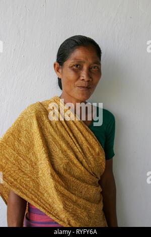 BANGLADESH Tribal woman of Mymensingh photo by Sean Sprague - Stock Image