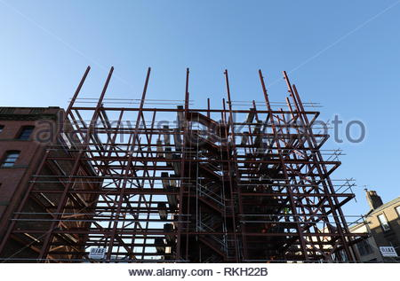 Affordable housing construction site Trades Lane Dundee Scotland  30th January 2019 - Stock Image