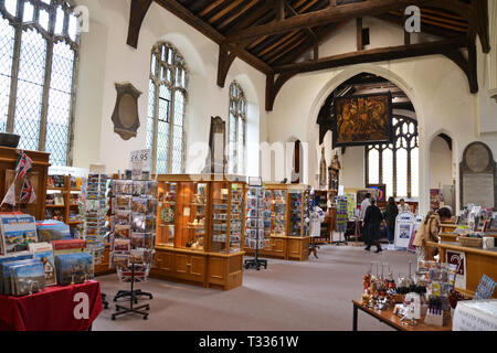 Ipswich Tourist Information Centre, inside the stunning medieval church of St Stephen's - Stock Image