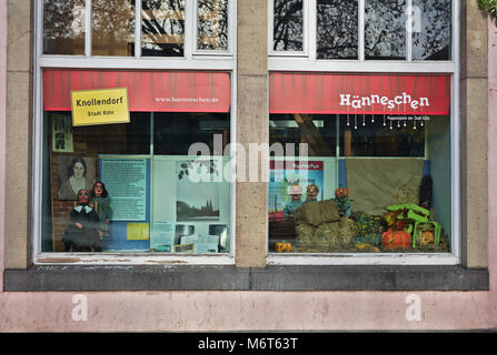 Window of Hänneschen Theatre, Cologne, Germany - Stock Image