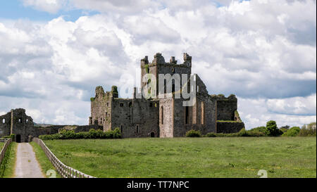 Remains of Dunbrody Abbey in County Wexford,Ireland - Stock Image