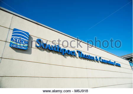 Southport Theatre & Convention Centre. The STCC is a Theatre and Conference centre for shows, trade exhibitions, - Stock Image