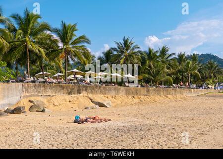 White sand beach, Khao Lak, Thailand - Stock Image