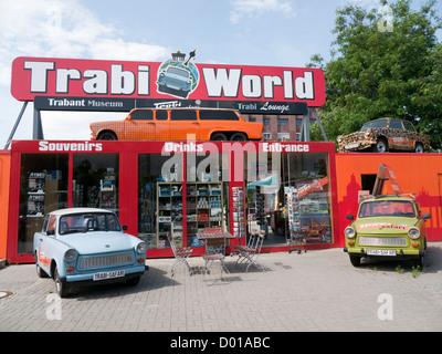 Trabi World Trabant Museum in Berlin Germany - Stock Image