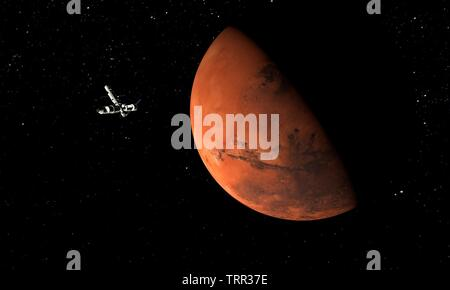 Mars. Astronomy and science concept. Space theme. 3d Illustration. - Stock Image