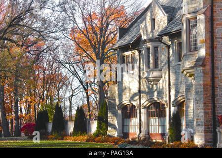 Glatfelter Mansion in Spring Grove PA - Stock Image
