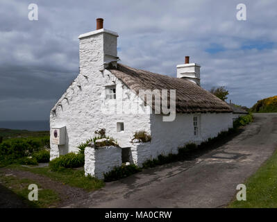 RS 8061  Ned Beg's Cottage, Cregneash, Isle of Man, UK - Stock Image