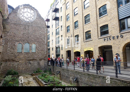LONDON, UK - 9th August 15: The Winchester Palace in Southbank - Stock Image