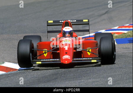 1990 Alain Prost French Ferrari 641 Hockenheim German GP 4th - Stock Image